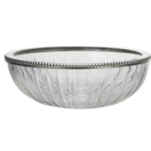 soap dish glass silver kolo